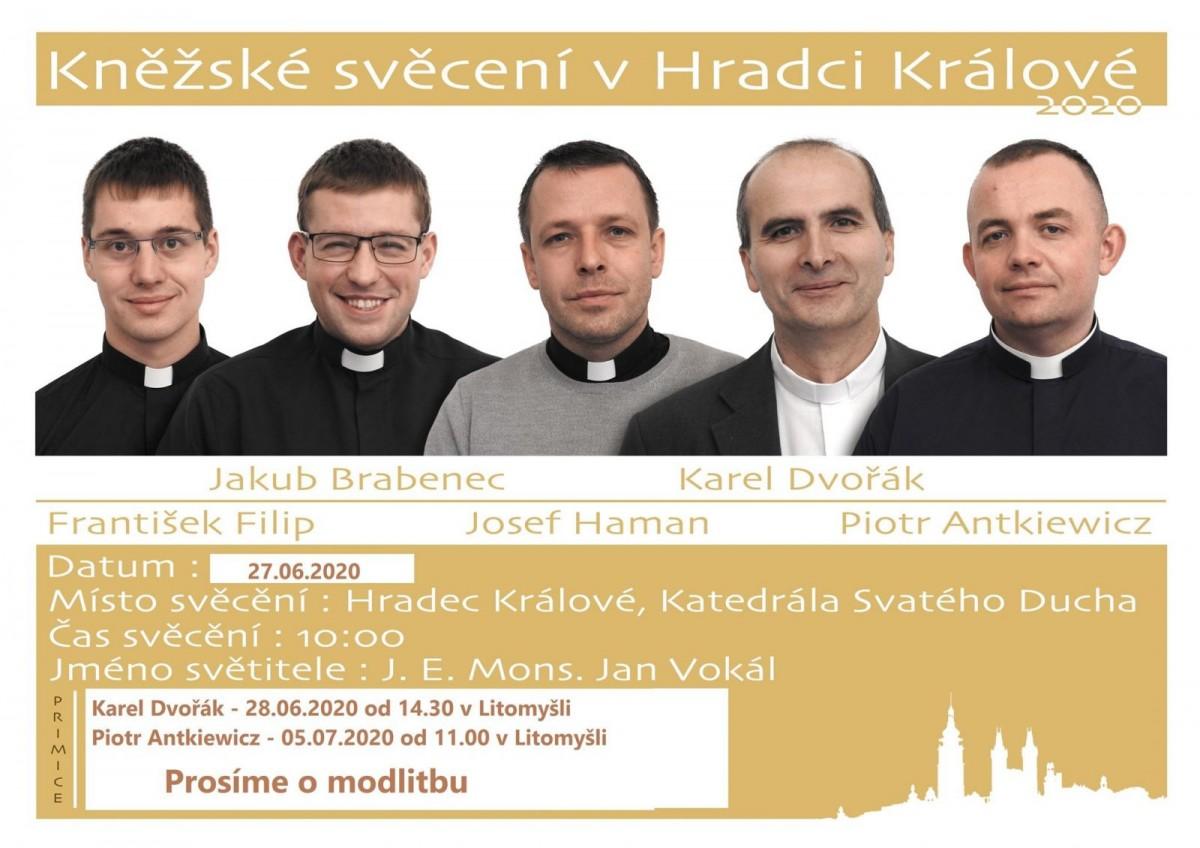 kněžské svěcení Hradec Králové